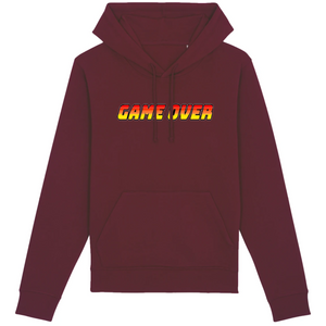 Sweat-shirt bio geek game over bordeaux