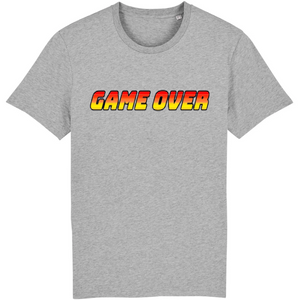 T-shirt homme coton bio game over gris