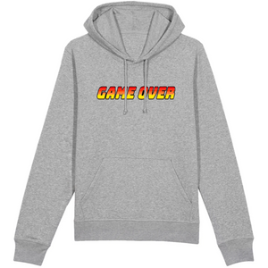 Sweat-shirt bio geek game over gris
