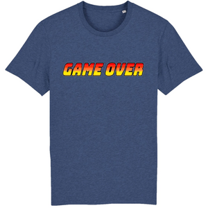 T-shirt homme coton bio game over bleu indigo