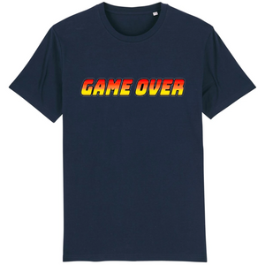T-shirt homme coton bio game over bleu marine