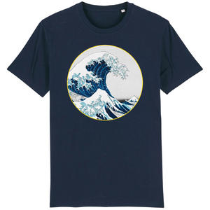 tee shirt homme bio vague bleu marine