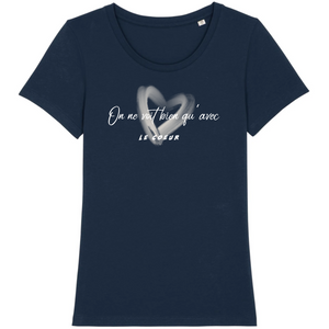 tee-shirt-bio-message-coton-citation-femme-bleu-marine