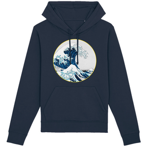 sweat-shirt vague surf bleu marine homme bio éthique