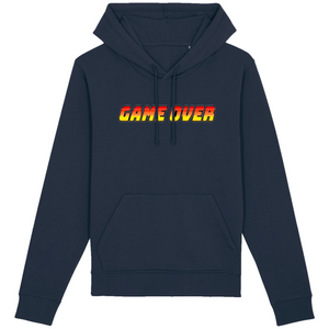 Sweat-shirt bio geek game over bleu marine