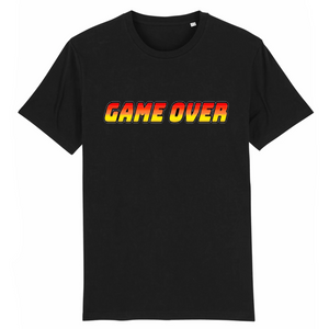 T-shirt homme coton bio game over noir