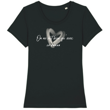 Charger l'image dans la galerie, tee-shirt-bio-message-coton-citation-femme-noir