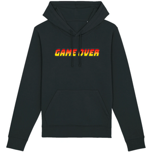Sweat-shirt bio geek game over noir