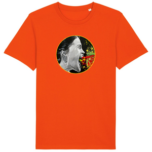 T-shirt homme coton bio listen me orange