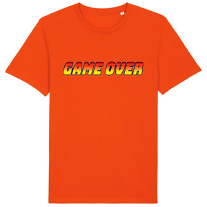 T-shirt homme coton bio game over orange