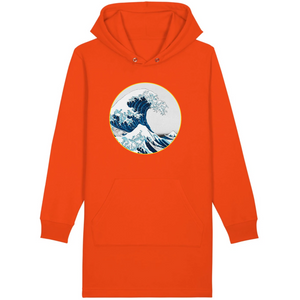Robe sweat-shirt vague bio orange