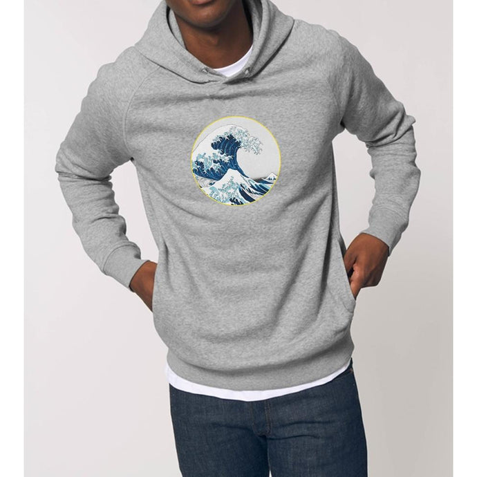 sweat-shirt-bio-vague-surf-street-homme-mode-durable-gris-capuche-eco-responsable
