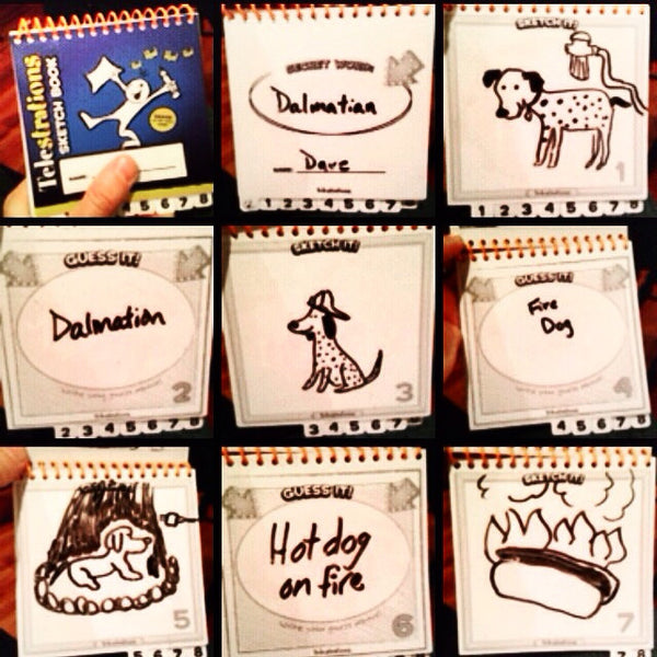 Sample round of Telestrations