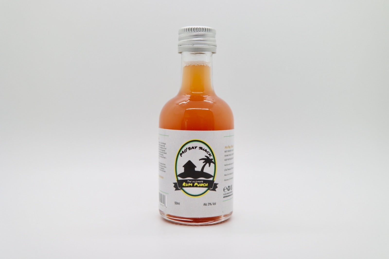 Mo'Bay Shack  -  The Ultimate Rum Punch - 50ML  Miniature  Bottle