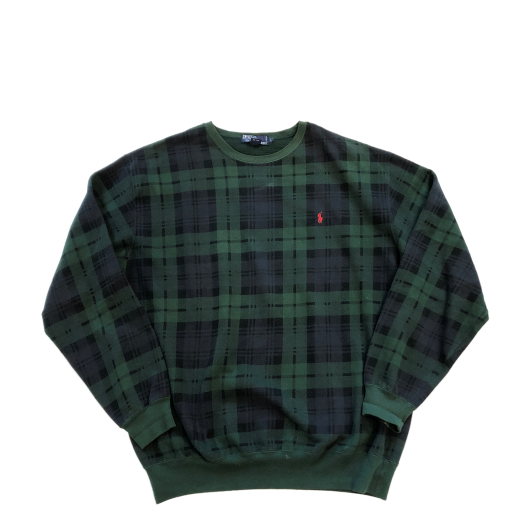 Black Watch Plaid Polo Crewneck