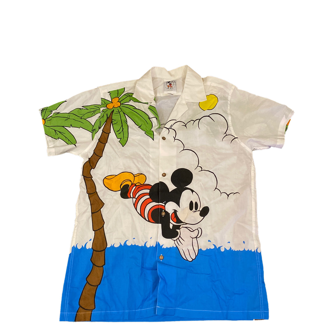 Mickey Mouse Diving Button Down