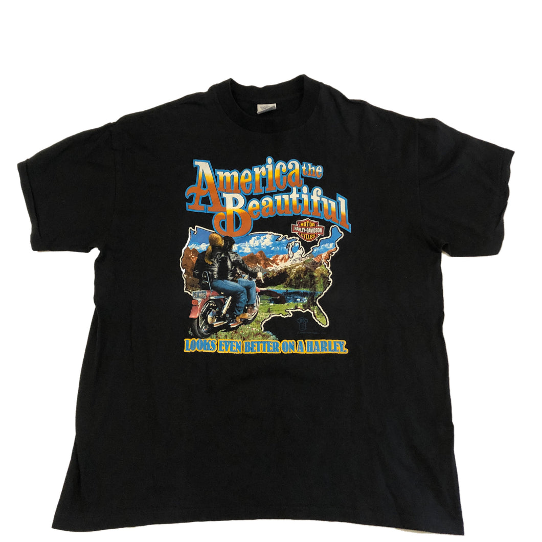 America The Beautiful Harley Davidson Tee