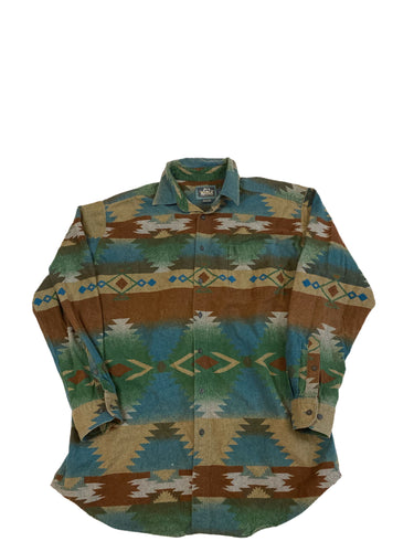 Woolrich Aztec Print Button Down
