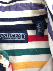 Lands End Stripped Button Down