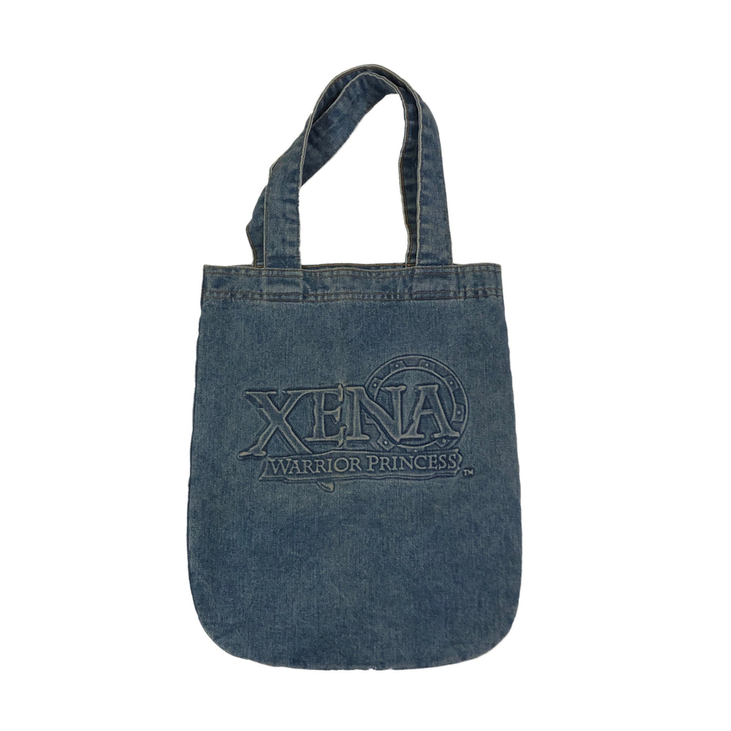 Xena Warrior Princess Embossed Denim Tote