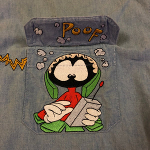 Duck Dodgers Looney Tunes Button Down
