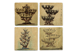 Shell Fountain Coasters