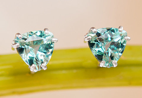 Slag Glass Stud Earrings