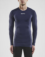 Craft Pro Control Compression langærmet baselayer med flad krave
