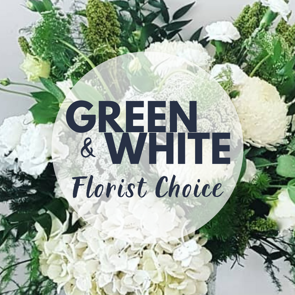 White & Green - Florist Choice