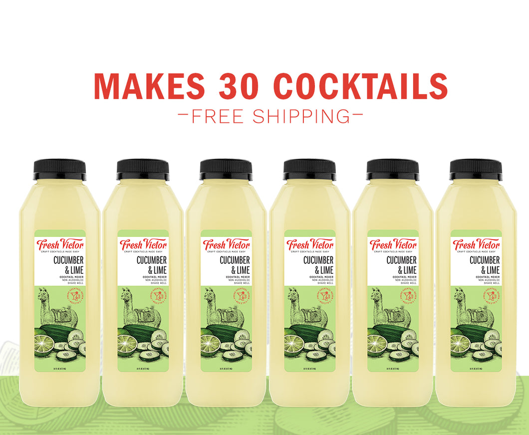 6 bottles – Cucumber & Lime