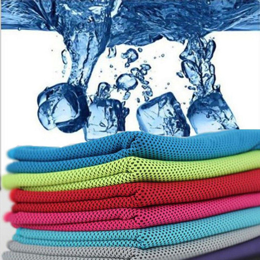 Sports Gym Jogging Enduring Running Instant Ice Cold Chilly Pad Cooling Towel