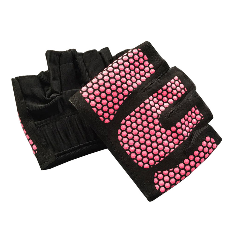 Four Finger Women Workout Gloves Fitness Gym Yoga Exercise Hand Palm Protector