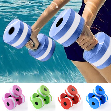 1Pc Water Aerobics Aquatic Dumbbell EVA Yoga Barbell Exercise Fitness Equipment