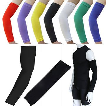 Elastic Solid Sport Protector Cycling Basketball Gym Arm Sleeves Guard Cover