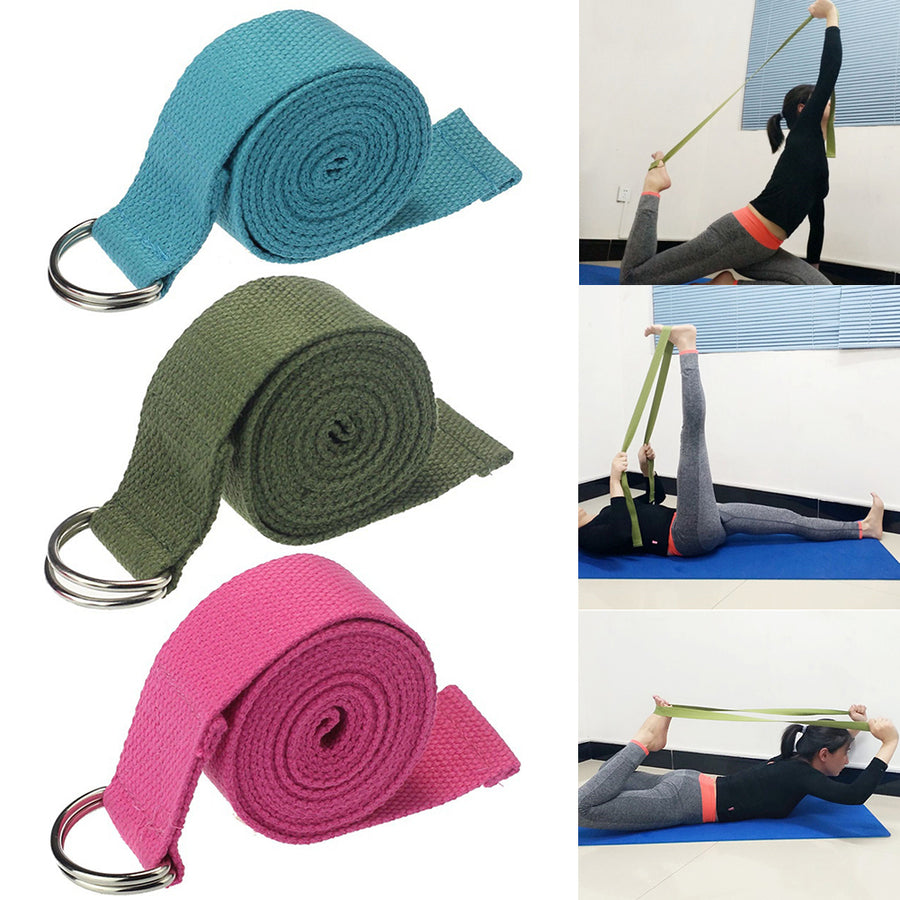 Yoga Pilates Stretch Strap Belt Gym Physical Training Fitness Resistance Band