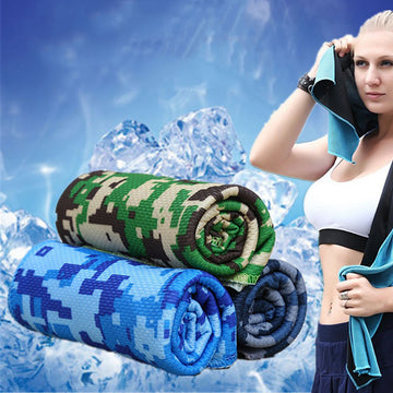Fashion Camouflage Summer Outdoor Fitness Gym Cool Towel Heatstroke Prevention