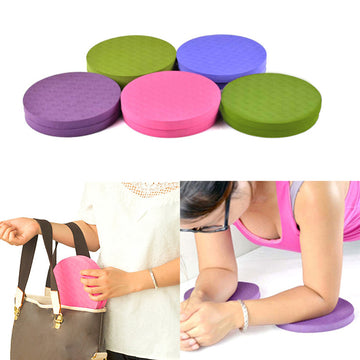 2Pcs Round Elbow Knee Pad Yoga Mat Fitness Plank Gym TPE Disc Protective Cushion