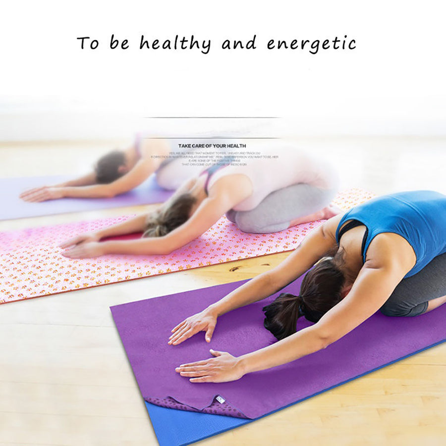 Non Slip Yoga Mat Cover Towel Blanket Gym Sport Fitness Exercise Pad Cushion