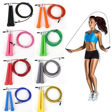 Speed Wire Skipping Adjustable Jump Rope Fitness Sport Exercise Cardio Tool