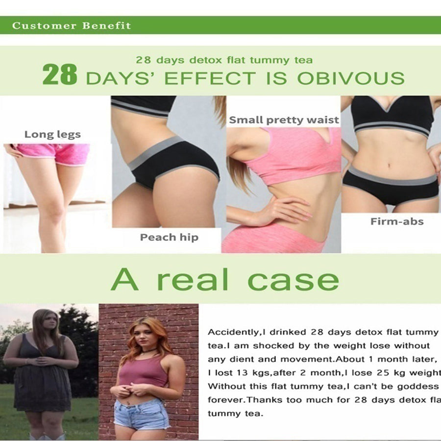 Health Appetite Suppressant Thin Belly 28 Days Detox Slimming Weight Loss Tea