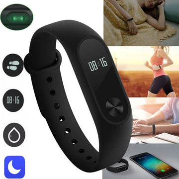 Bluetooth Fitness Tracker Heart Rate Monitor Pedometer Smart Wristband Bracelet