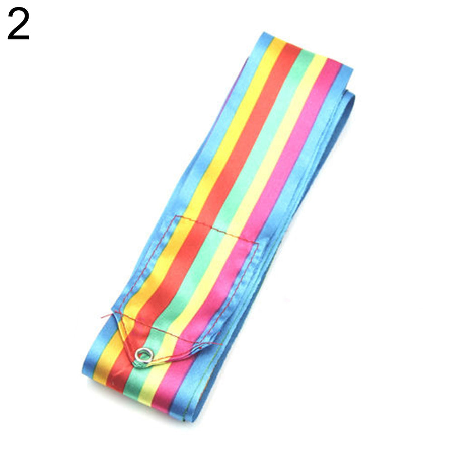6m Gym Dance Ribbon Stick Art Rhythmic Gymnastics Ballet Streamer Twirling Rod
