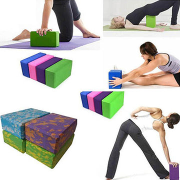 Yoga Block Foam Brick Stretching Aid Gym Pilates for Exercise Fitness Sports