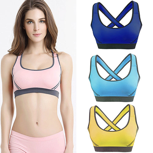 Women Padded Bra Vest Athletic Gym Fitness Fashion Sports Yoga Stretch Tank Top