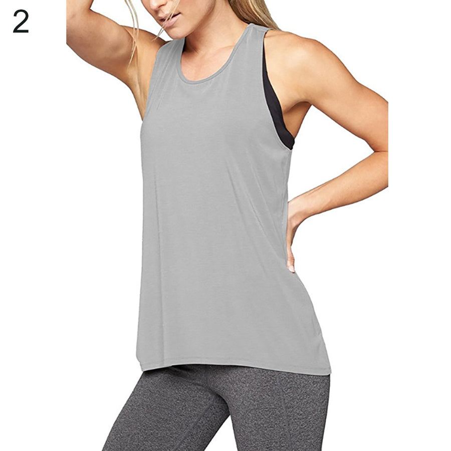 Fashion Back Cross Camisole Tank Top Women Sports Yoga Gym Fitness Running Vest