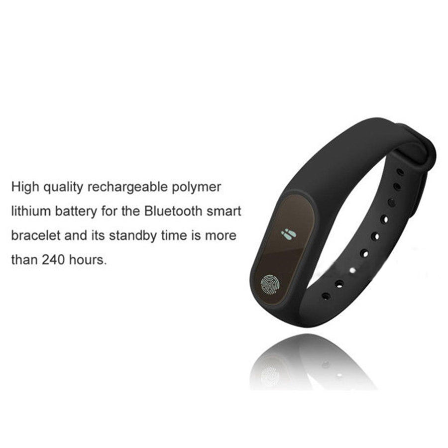 Bluetooth Smart Band Sports Fitness Tracker IP67 Heart Rate Monitor Bracelet