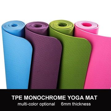 Eco-friendly TPE Yoga Mat 6MM Carpet-Mat Gymnastics-Mats Waterproof Yoga Bag For Beginner Tasteless Pilates Pad