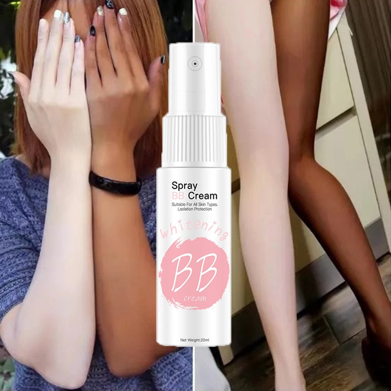 Spray BB Cream Concealer Brighten Whitening Moisturizing Base Face Foundation Makeup Beauty Skin Care 20ml Korean Cosmetic