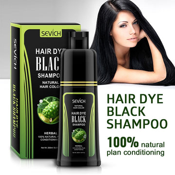 Sevich Hair dye Black Shampoo 250ml Fast Dye Hair Shampoo Natural Anti Hair Loss Moisturizing Refreshing Black Hair Care