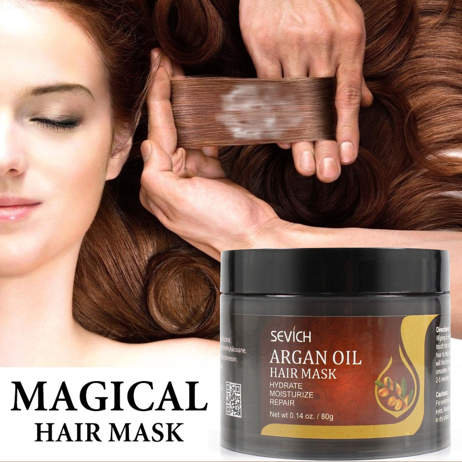 Sevich Argan Oil Moisturize Hair Treatment Mask Repair Damage Hair Root 80g Keratin Hair & Scalp Treatment Deep Hair Care Mask